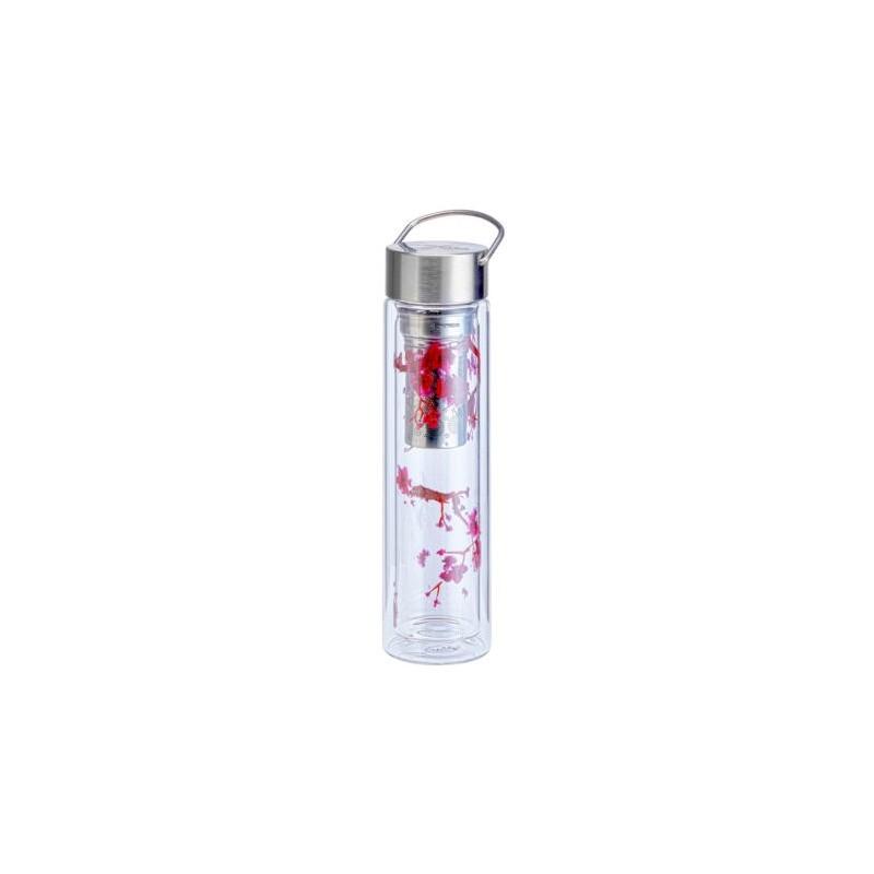 Tea Bottle Glass Cherry Blossom