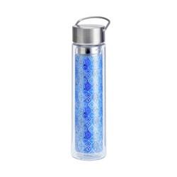 Tea Bottle Glass Indigo
